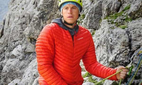 Tom Ballard on a mountain
