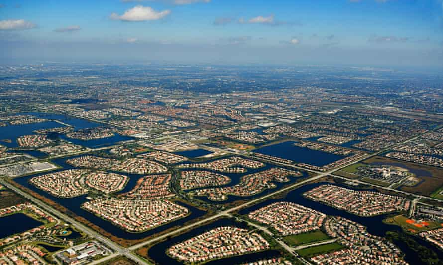 'Right now we are not succeeding' … an aerial view of houses in Florida.