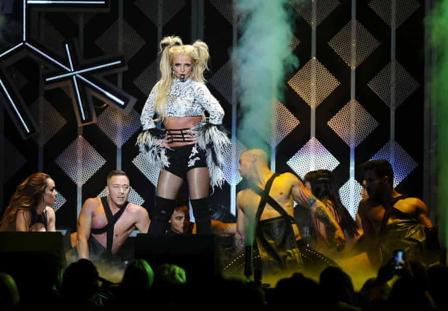 Britney Spears performs at a concert in Los Angeles on 2 December 2016.