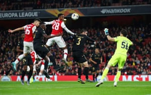 Arsenal's Gabriel Martinelli scores the equaliser.