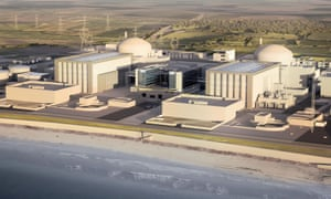 Artist's impression of Hinkley Point C nuclear plant.