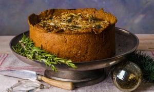 Celebration celeriac and sweet garlic pie.