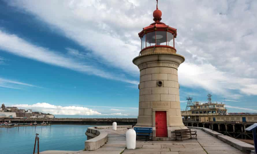 Ramsgate harbour lighthouse.