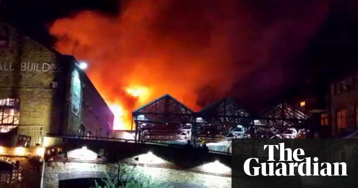 Camden Lock market fire: large blaze brought under control | UK news ...