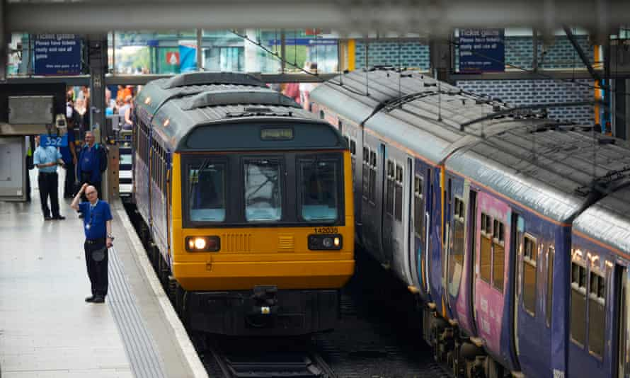 Northern rail passengers at Manchester Piccadilly station on the first working day after changes to train operating companies' timetable changes.