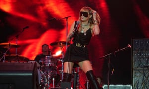 Miley Cyrus performs during the first day of BBC Radio 1's Big Weekend at Stewart Park, Middlesbrough