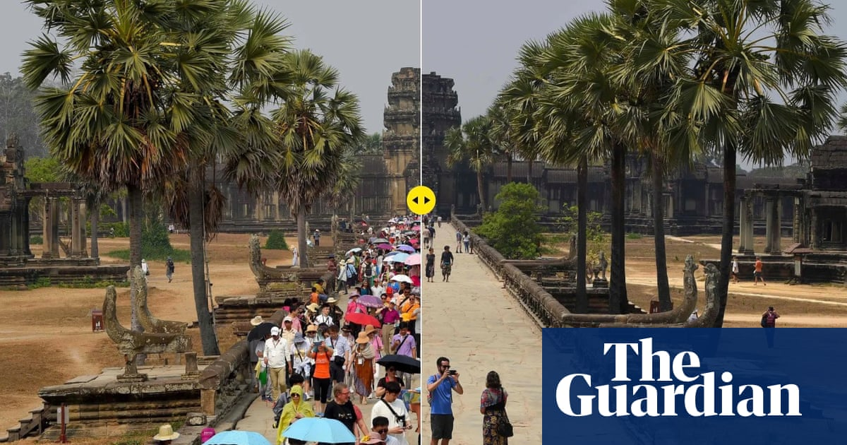 Tourist sites in Asia hit by coronavirus fears  before and after