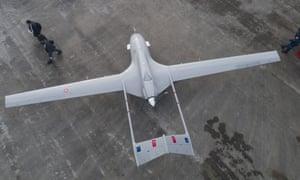 A Bayraktar TB2 drone.