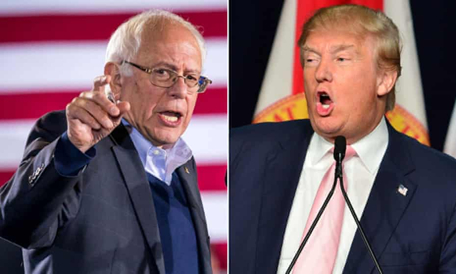 Bernie Sanders and Donald Trump are two sides of the same coin, even down to the oddball hair.