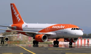 An EasyJet airplane is pictured at Leonardo da Vinci-Fiumicino Airport in Rome, Italy.