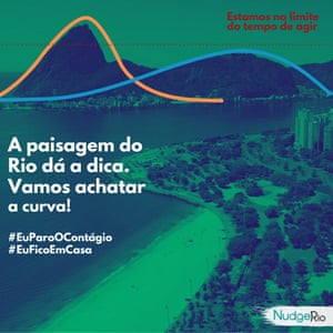 The NudgeRio Flatten the curve campaign