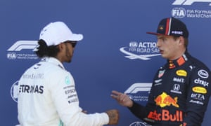 Red Bull's Max Verstappen (right) won the last grand prix, in Austria, but Lewis Hamilton (left) is favourite for this weekend's British race.