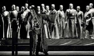 Neil Howlett singing Amfortas in Wagner's Parsifal, ENO, 1986.