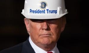 Donald Trump tours US Steel's Granite City Works steel mill in Granite City, Illinois on Thursday.