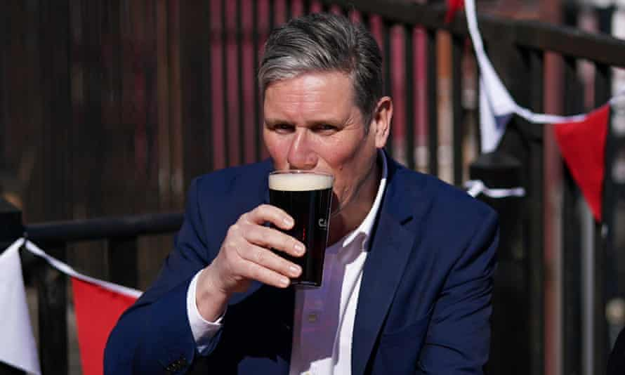 Kier Starmer at Cameron's brewery in Hartlepool, 23 April 2021.