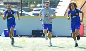 Pedro and Ethan Ampadu return to training.