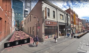 Computer generated plan for outdoor dining in Market Lane in Melbourne.
