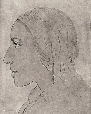 A drawing of Mary Ann Evans made by a friend who traced her profile.