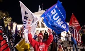 Demonstrations against the election result continued this weekend, with Trump supporters alleging it was fraudulent, despite a lack of evidence.