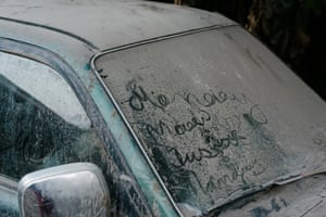 A thick layer of volanic ash covers a disused car in West Ambae, Vanuatu. Heavy ashfall from the Manaro Volcano over the past two weeks, following intermittant activity since September 2017, has blocked out the sun in Ambae on particulary bad days, forcing residents to use solar lights and torches.