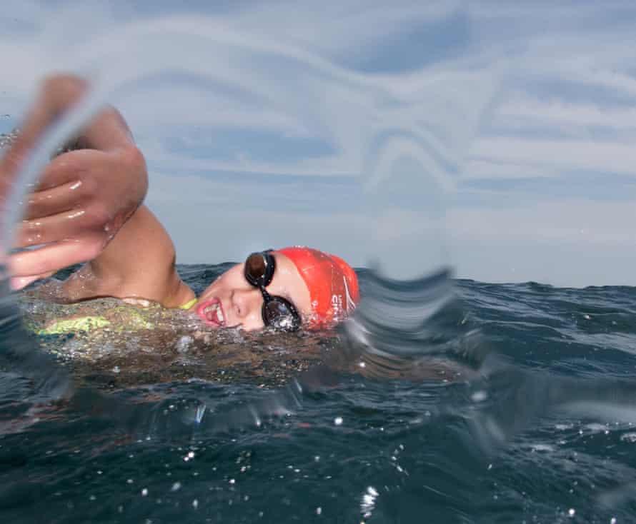 Amelie's second swim