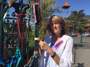 Ballarat resident Maureen Hatcher started the Loud Fence movement which ties colourful ribbons on the fences of Catholic Church and school grounds as a symbol of support for victims of clergy sex abuse.