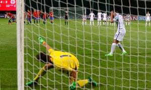 England's Joel Latibeaudiere reacts