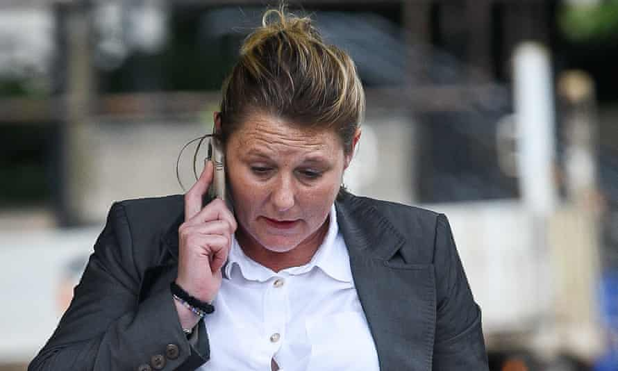 Jenny Lee Clarke arrives at Cardiff crown court on Tuesday