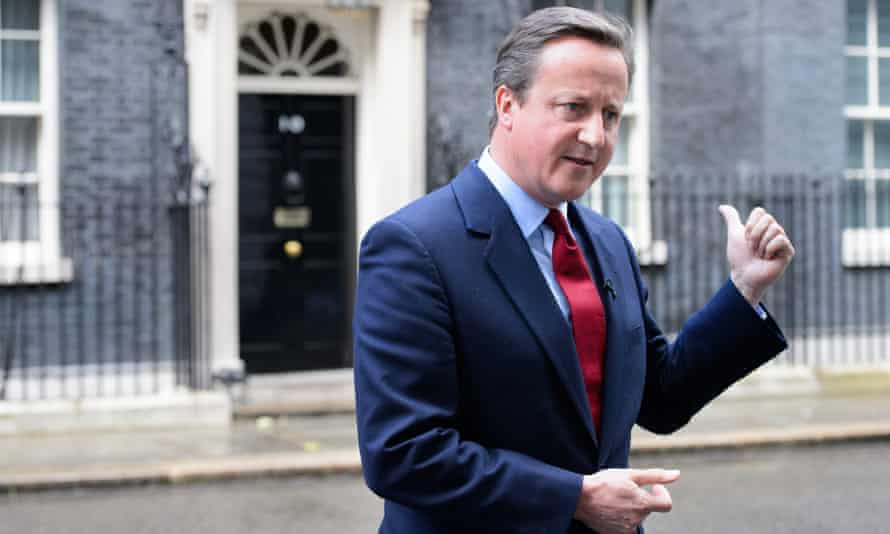 David Cameron announces he is standing down as Prime Minister at the press conference in Downing Street.