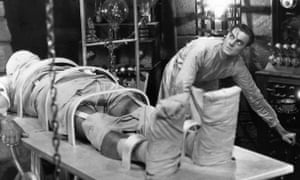 a still from James Whale's 1931 film of Frankenstein.