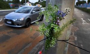 Road crash site in Melbourne