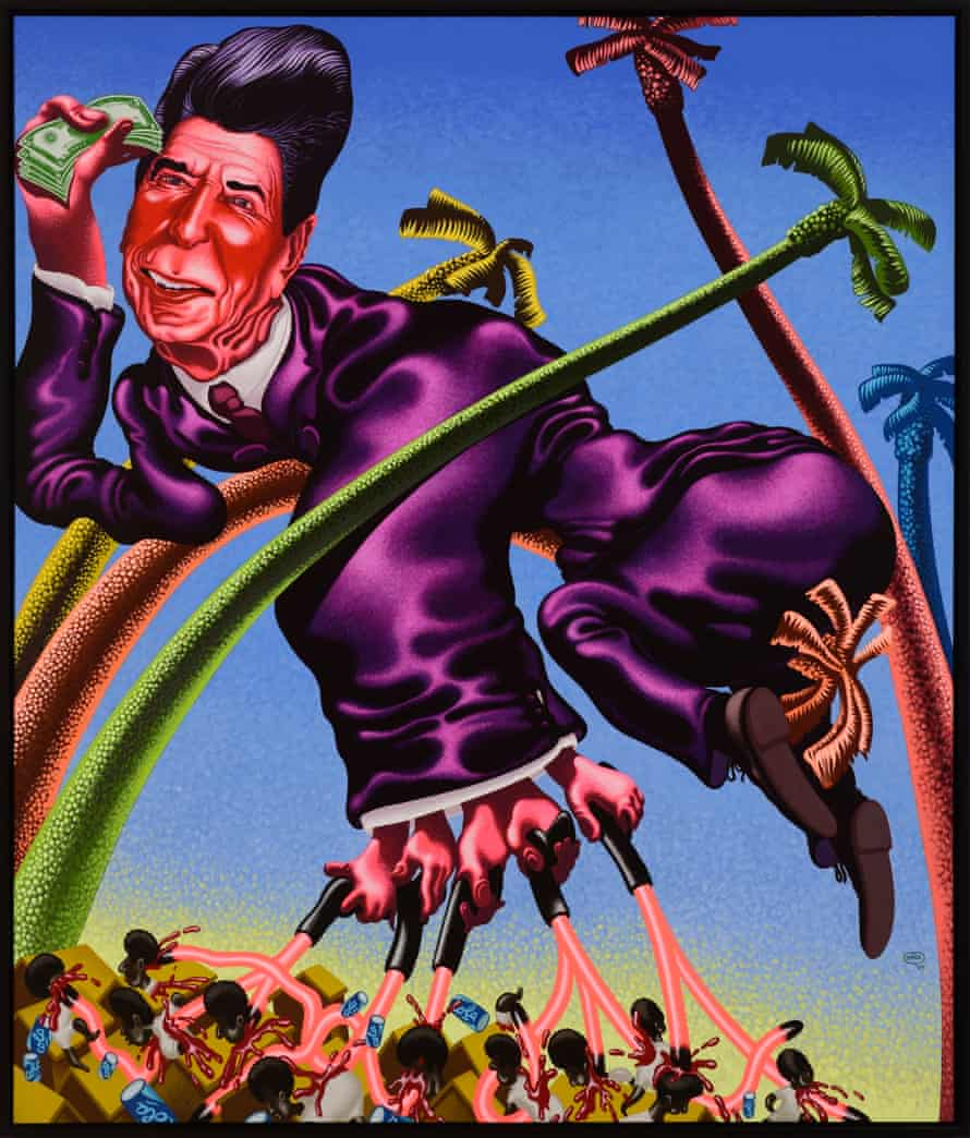 Peter Saul, Ronald Reagan in Grenada, 1984