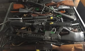Collected firearms handed back in Christchurch, New Zealand, under the government's buyback scheme.