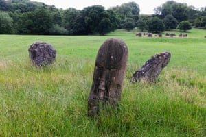 King's Meadow, with Stone Circle (erected 1992) in the distance