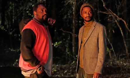 Stanfield with Brian Tyree Henry in Atlanta.