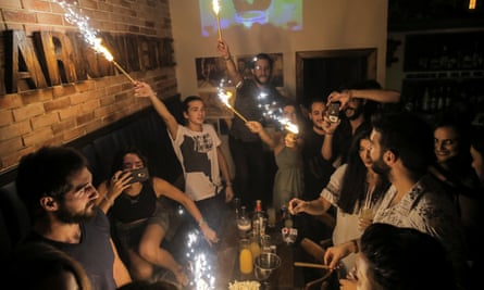 A celebration in Damascus, Syria marks a return to normality after four years of fighting.