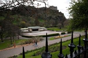 West Princes Street Gardens in Edinburgh