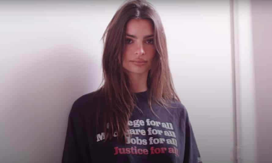 Emily Ratajkowski for Bernie.