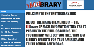 This is not a LIEbrary it is a Truthbrary.