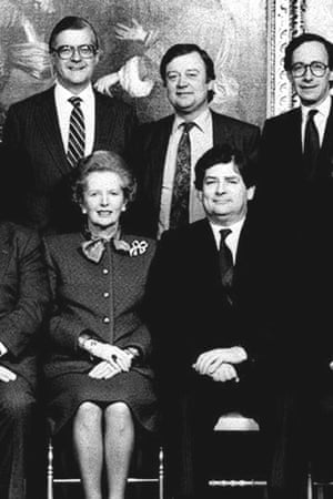 Margaret Thatcher with some of her 1988 cabinet –Kenneth Baker, Kenneth Clarke, Malcolm Rifkind and Nigel Lawson.