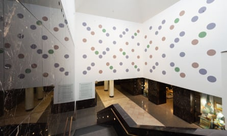 Messengers, the new large scale wall painting in Anneberg Court of the National Gallery.