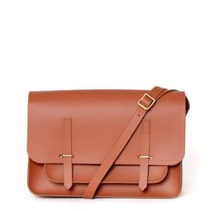 Messenger bag, £195, cambridgesatchel.com