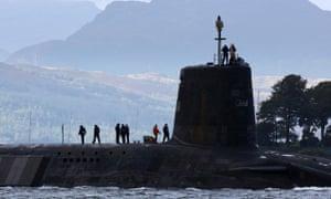 A Vanguard-class nuclear submarine