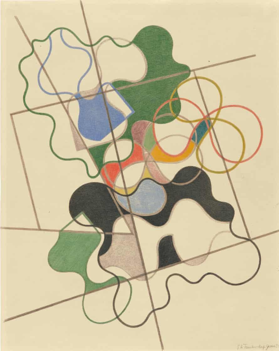 Sophie Taeuber-Arp's Geometric and Undulating, 1941.