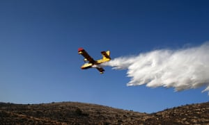 A firefighting plane