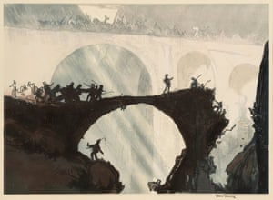 Yoshijiro Urushibara (1888–1953) after Frank Brangwyn RA (1867–1956) Devil's Bridge, St Gothard's pass c.1924