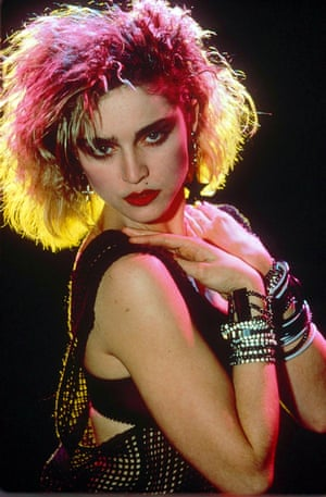 1984: Following the release of her eponymous first album one year earlier, Madonna introduced string vests, backcombing and two piercings in one ear to a generation of young girls