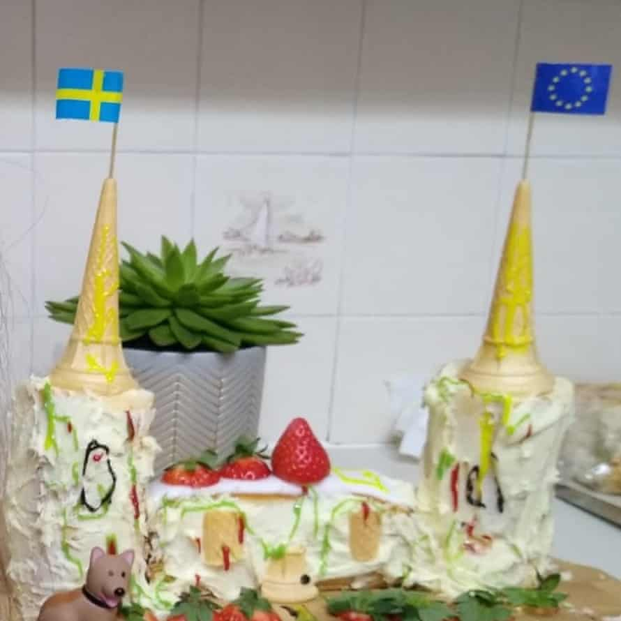 Rapunzel castle cake by Trevor and family