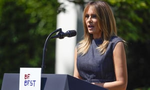 375ccbde The first lady, Melania Trump, speaks during an event to celebrate the one  year