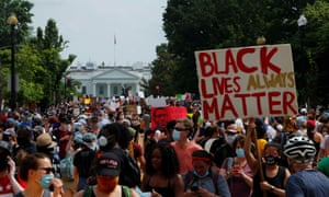 Protesters in front of the White House in Washington on Saturday.